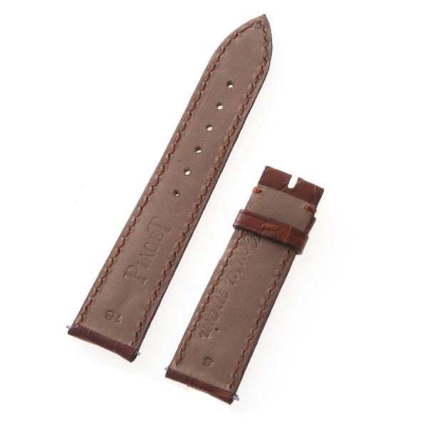 Piaget brown alligator strap (18x16)