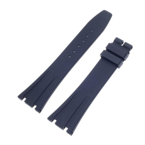 Audemars Piguet Royal Oak Midnight Blue Rubber Strap for Tang Buckle