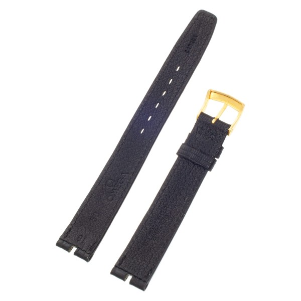 Omega Black Lizard strap with buckle(16x14)