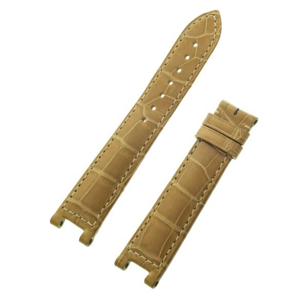 Cartier beige chiny alligator strap (18mm x 16mm)