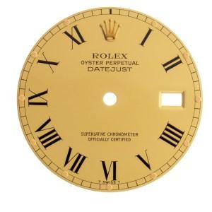 Rolex Datejust gold Roman numeral dial