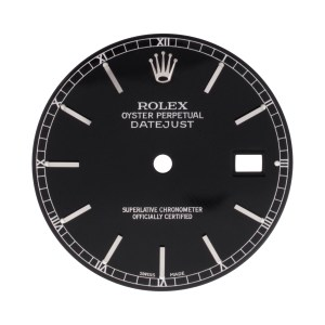 Rolex Datejust black stick dial
