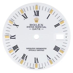 Rolex Date white roman numeral dial