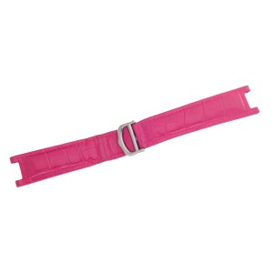 Cartier pink Pasha alligator strap (20mm x 18mm) with stainless steel deployant buckle