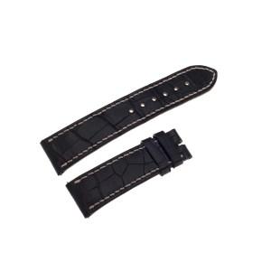 Corum black alligator strap with white stiching 20mm x 18mm