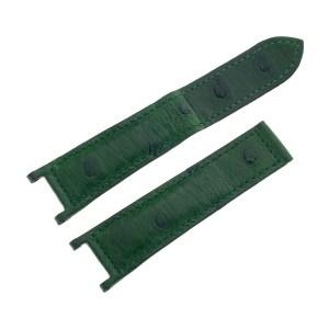 Cartier dark green ostrich strap for Cartier Pasha 21mm x 18mm