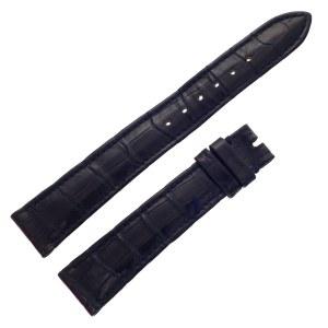 Rolex black alligator strap at 17mm x 14mm