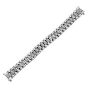 Custom Italian 18k white gold diamond bracelet to fit Rolex president style watch