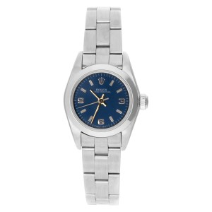 Rolex Oyster Perpetual 67180 Stainless Steel Blue dial 24mm Automatic watch