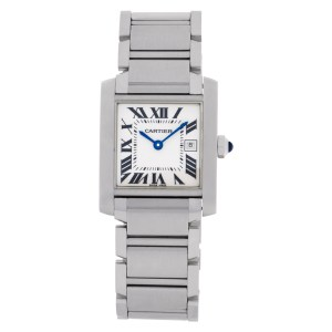 Cartier Tank Francaise W51011Q3 Stainless Steel Ivory dial 32mm Quartz watch