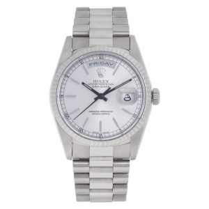 Rolex Day-Date 18239 18k white gold 36mm auto watch