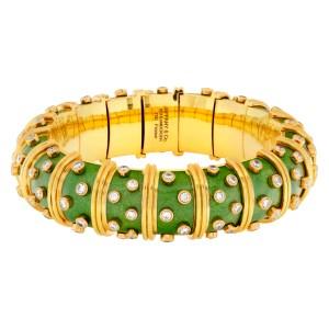 Tiffany & Co. Schlumberger Enamel Diamond Bracelet