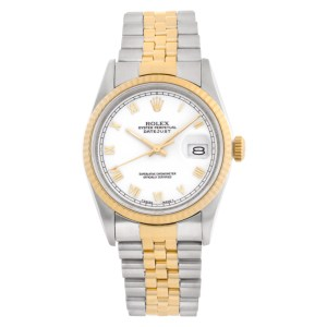 Rolex Datejust 16233 Stainless Steel White dial 36mm Automatic watch