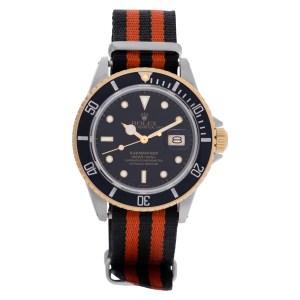 Rolex Submariner 16803 18k & steel 40mm auto watch