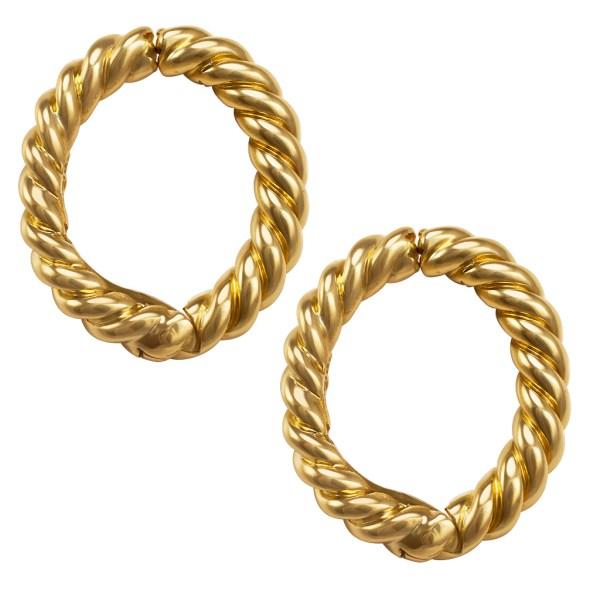David Webb 18k gold earrings