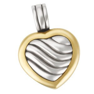 David Yurman cable heart charm in 18k & sterling silver