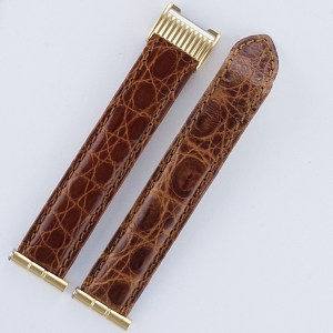 "Boucheron light brown crocodile strap 17mm by lug end 3.5"" length"