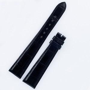 "Patek Philippe black alligator padded strap long 20mm x 14mm for tang buckle, long 5"" & short 3.25"""