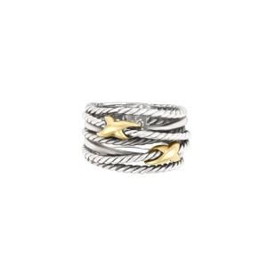 David Yurman ring in sterling silver & 18k