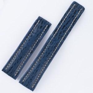 Breitling blue sharkskin used strap (20x18) for deployment buckle