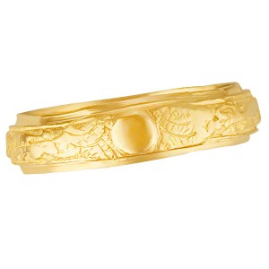 Mens 24k yellow gold ring. Size 10.75