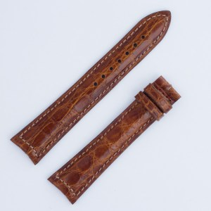 Jaeger Le Coultre for Master Control  brown crocodile strap (20x16mm)