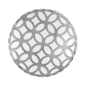 John Hardy Kawung white enamel flower disc ring in sterling silver