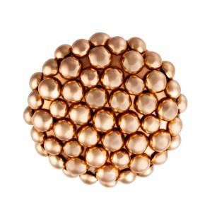 Carla Amorim 18k rose gold cluster ring; size 6.5