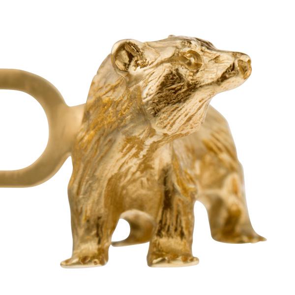 """Stock Market Guru"" cufflinks n 14k yellow gold"