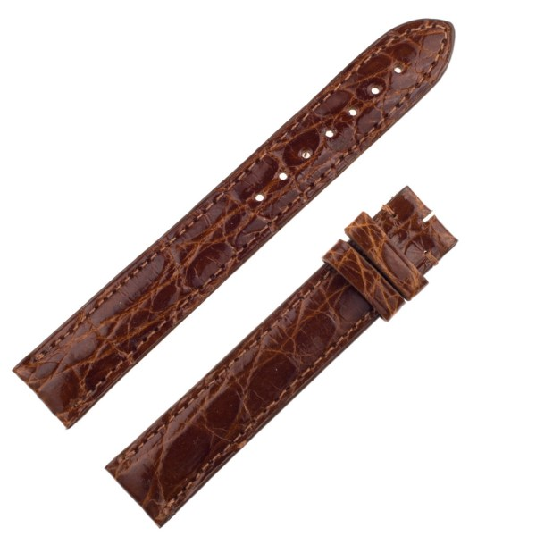 Cartier crocodile Brown Strap (15 X 14)
