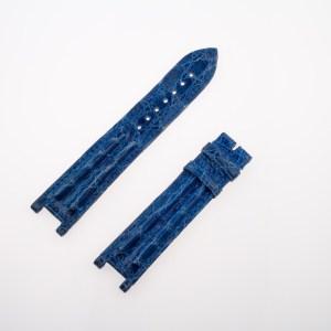 Cartier blue alligator leather strap (19.5 x 18mm)