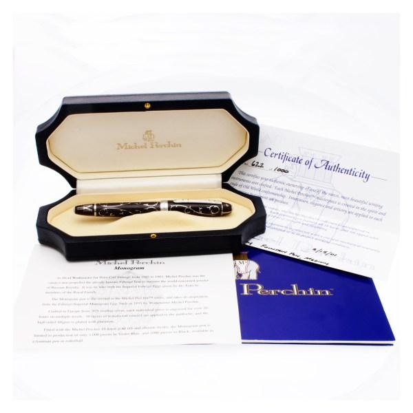 Michel Perchin Fountain Pen Limited Edition Black Monogram M