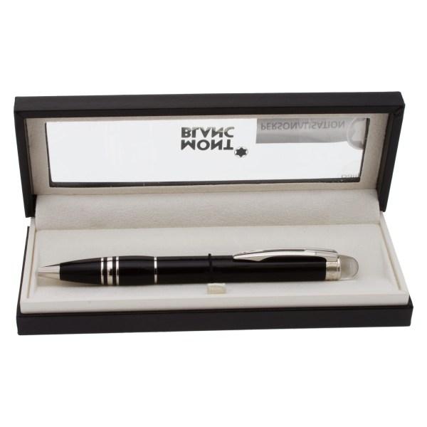Montblanc Starwalker Ballpoint Pen Black resin and Platinum plated
