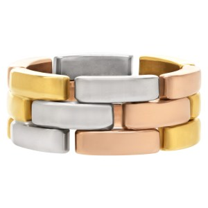Cartier Tri-color Panthere link ring