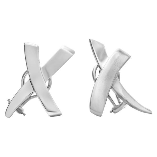 "Tiffany & Co Paloma Picasso ""X"" earrings"