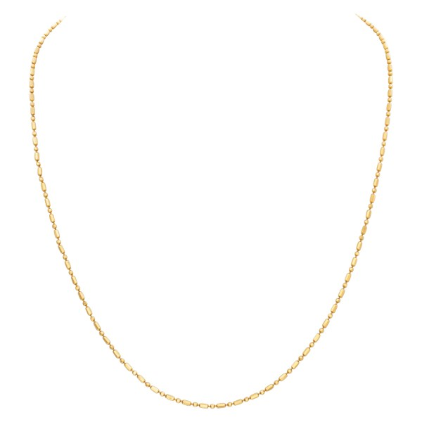 Chain in 14k yellow gold