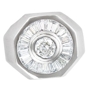 Platinum diamond ring with app. 1.75 cts in diamonds