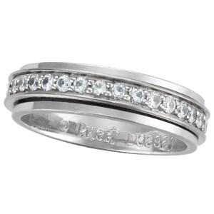 Piaget Possession diamond wedding band in 18k white gold w/app. 0.35 cts in diamonds