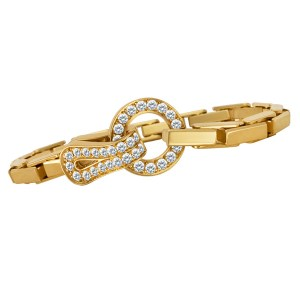 Cartier Agrafe bracelet in 18k w/diamonds