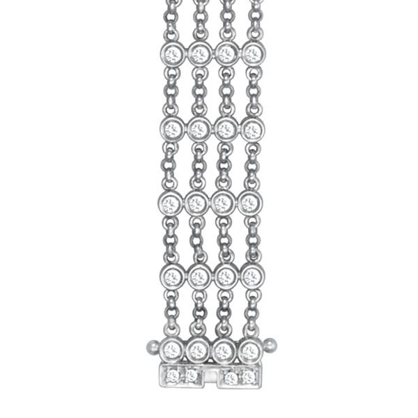Bracelet in 18k white gold with over 2.5 CT diamonds