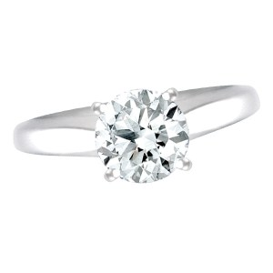 GIA Certified 1.11 carat round diamond ring