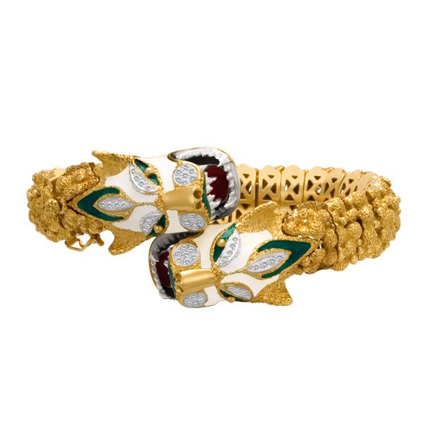 Dragon bracelet in 18k-