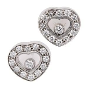 Chopard Happy Diamond Heart earrings in 18k white gold