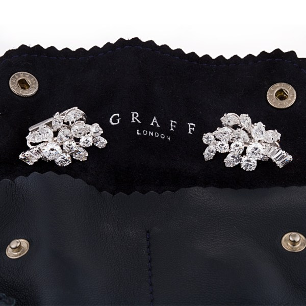Graff Diamond Earring With Round Marquise Pear And Baguettes With app 9 Cts In Diamonds