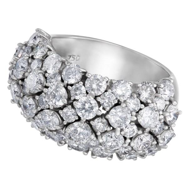 Diamond ring in 18k white gold 5.05 cts in diamonds