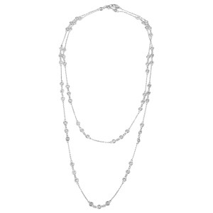 Diamonds by the yard in 18k white gold