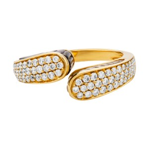 Diamond ring in 18k gold. 0.78cts in diamonds & hand cut 2 cts in colored stones.