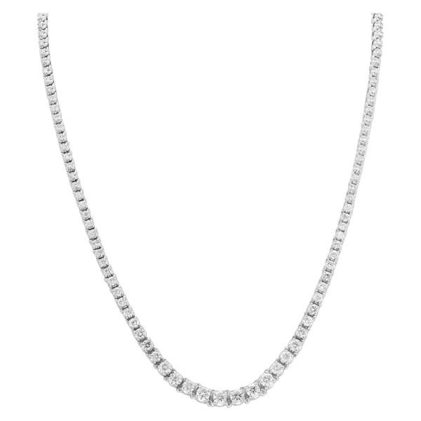 Rivera necklace in 14k white gold and diamonds