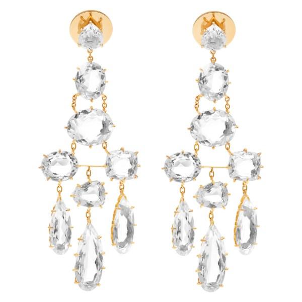 H. Stern white beryl earrings set in 18k