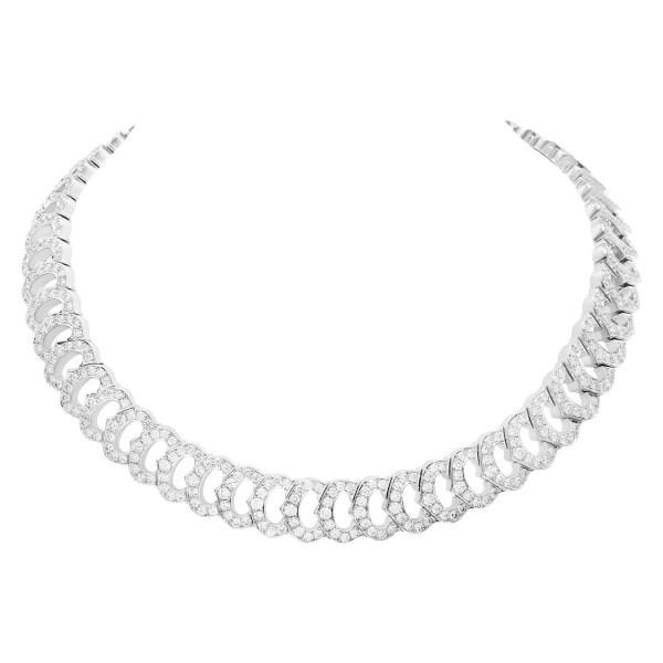 "Cartier ""C de Cartier"" choker necklace, approximately 19.54 cts in diamonds"